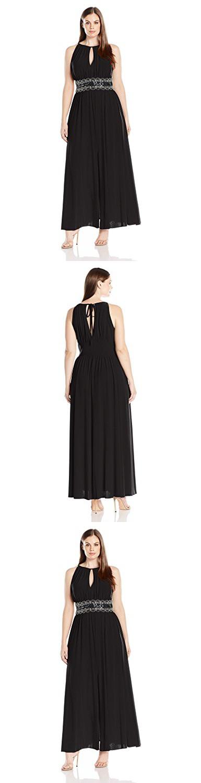 100e7f827d71c R M Richards Women s Plus Size Beaded Waist Halter Evening Gown ...