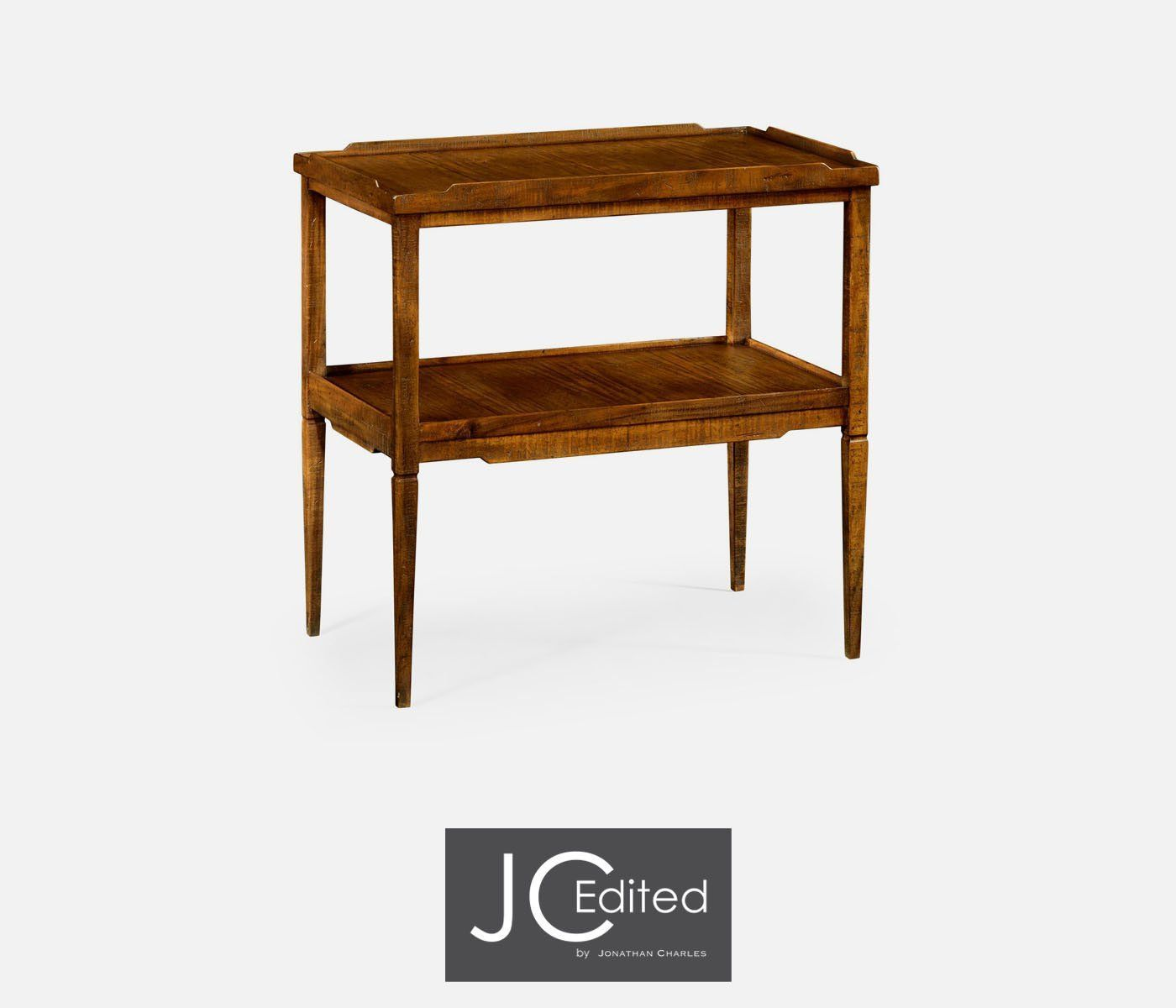 Wonderful Janathan Charles Walnut Country Style Side Table 491020 CFW