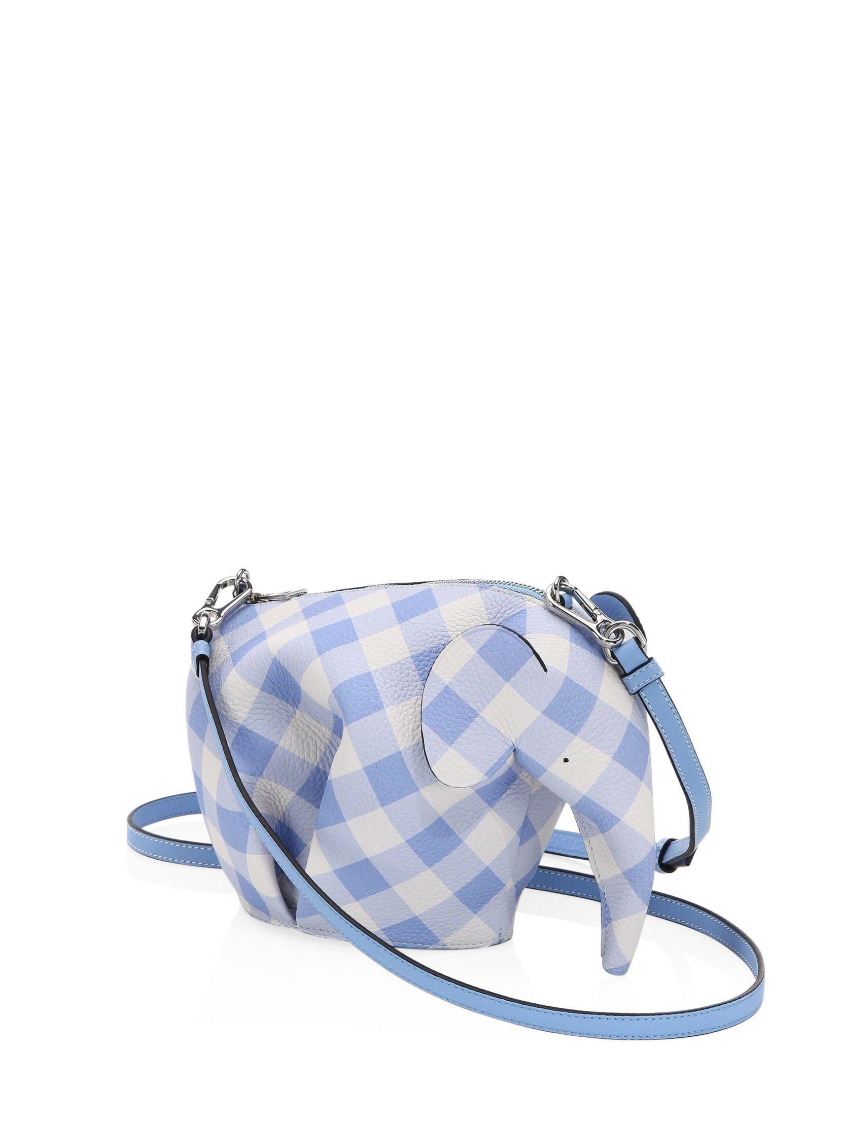 ffa4ee26db LOEWE Elephant Gingham Mini Bag