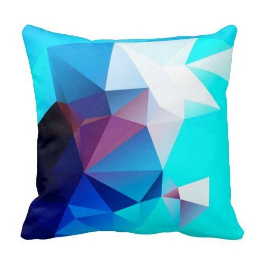 PAEOQ • Mehrfarbiges Polygonales Kissen