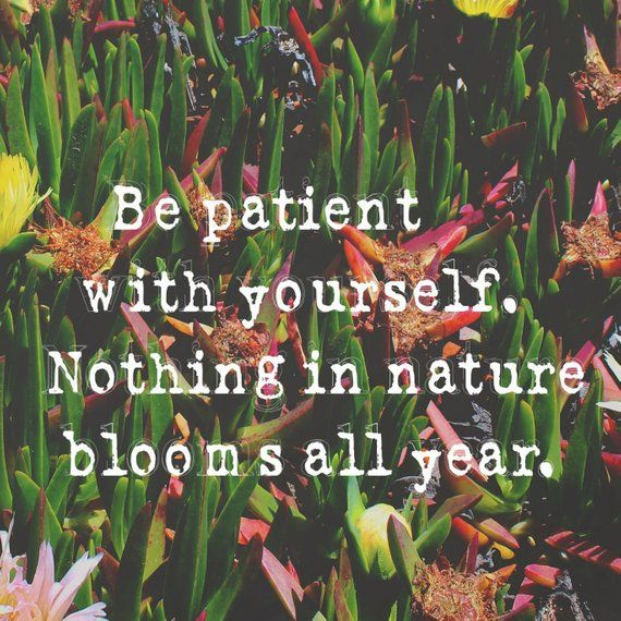 motivational wall art patience quote print self acceptance