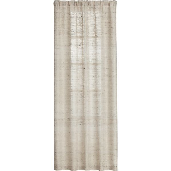 Asanto Sand 48x108 Curtain Panel In Curtains Crate And Barrel