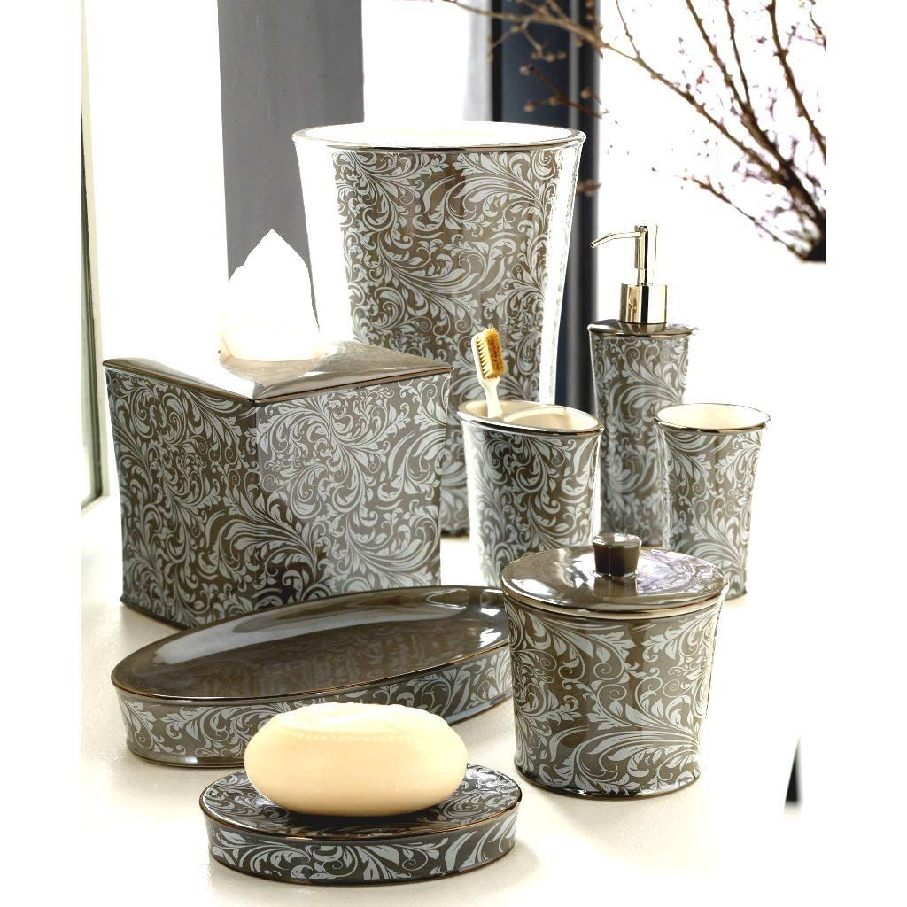 Bathroom Accessories Sets Design Gold With