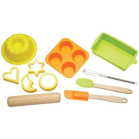 Kitchen Craft Let's Make Kinder-Backset aus Silikon, 11-teilig