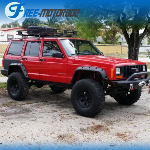 Fit 84 01 Jeep Cherokee Xj 4dr Pocket Rivet Style Abs Fender Flares Wheel Cover Jeep Cherokee Xj Jeep Cherokee Jeep