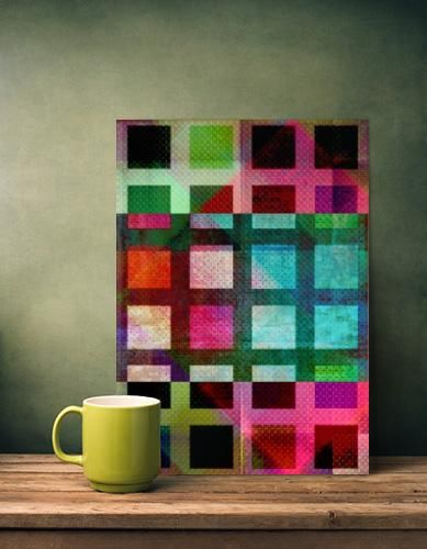 "Title: ""MELANGE OF SQUARES II"" © 2014 Pia Schneider 