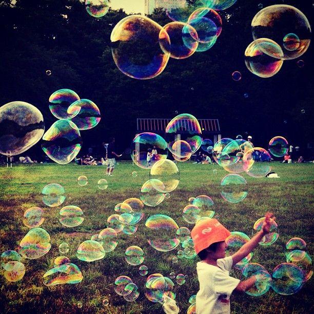 INK361 - Photo - #bubbles #bubble #park #children