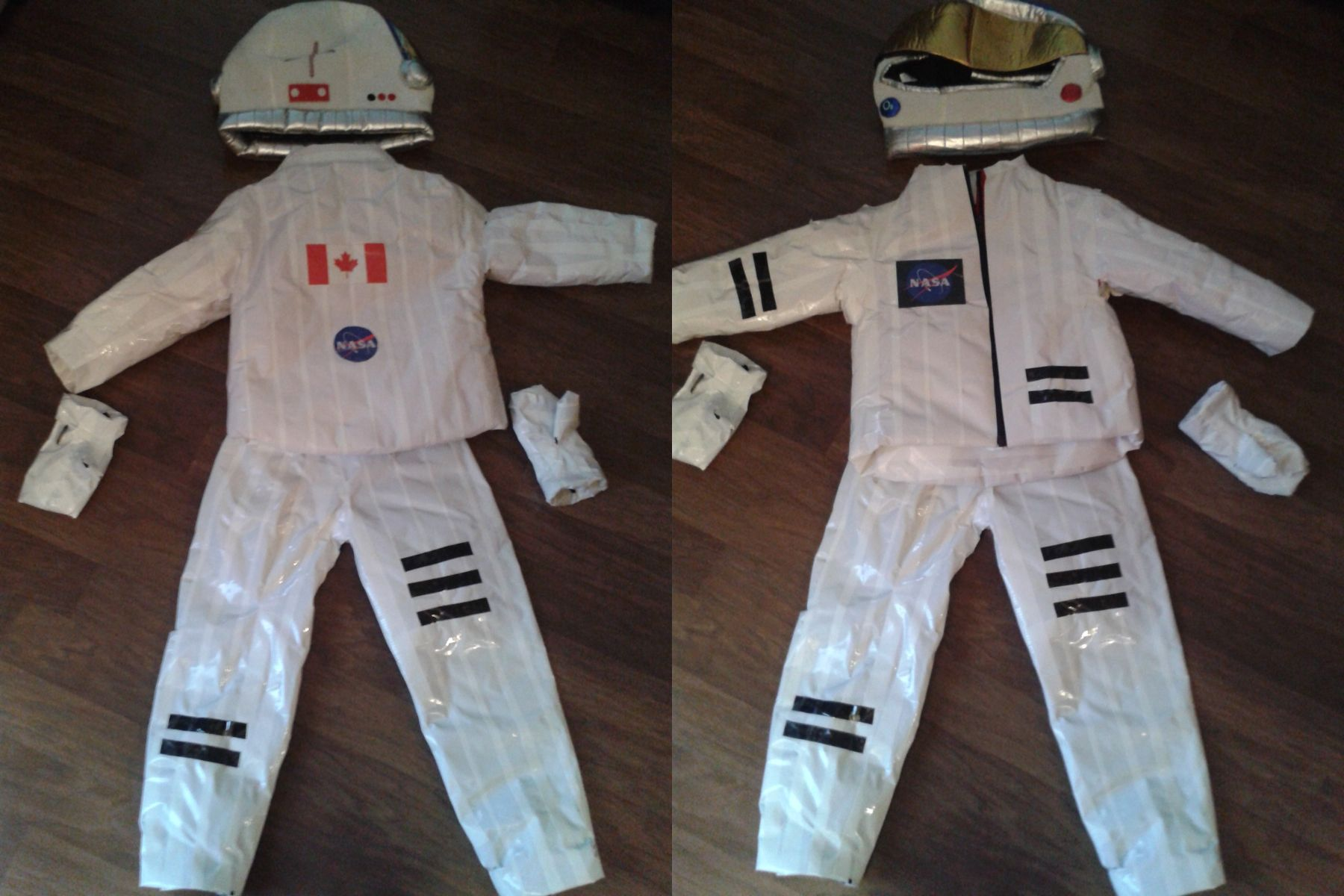 Diy Astronaut Costume Duck Tape Over An Old Snow Suit And