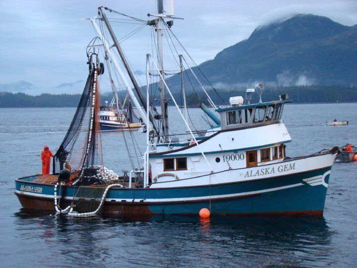 Metlakatla ak m v catching salmon in s e ak for Alaska fishing boats