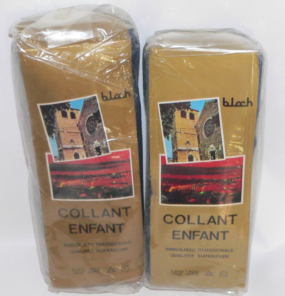 Vtg DeNardi De Nardi Bloch Childrens Tights lot Blue Wool 12 Italy 70s Prop NOS  #DenardibyBloch #Tights