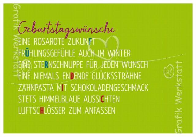 Pin Von Elfi Hoock Auf Grafik Werkstatt Spruche Zum Geburtstag