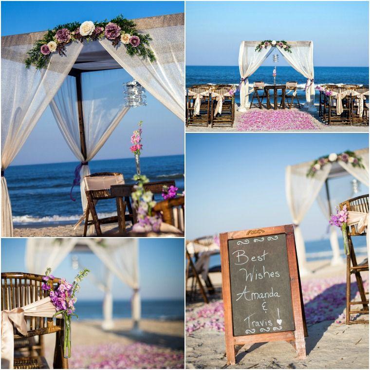 Vilano Beach Wedding St Augustine Wooden Arbor Sun And Sea