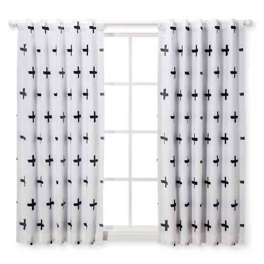 Light Blocking Curtain Panel Plus Cloud Island Black White Target Light Blocking Curtains Panel Curtains Cloud Island