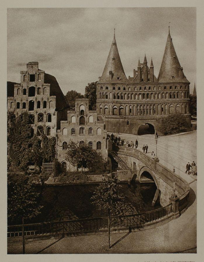 lübeck the holsten gate germany 1920s places pinterest