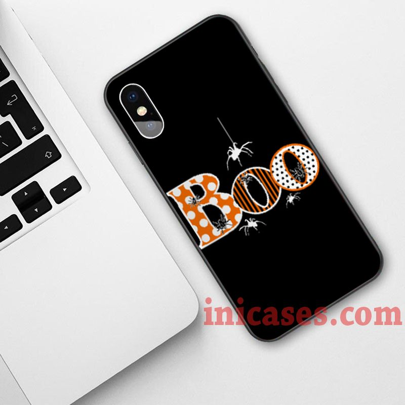 BOO with Spiders Halloween Phone Case For iPhone XS Max XR