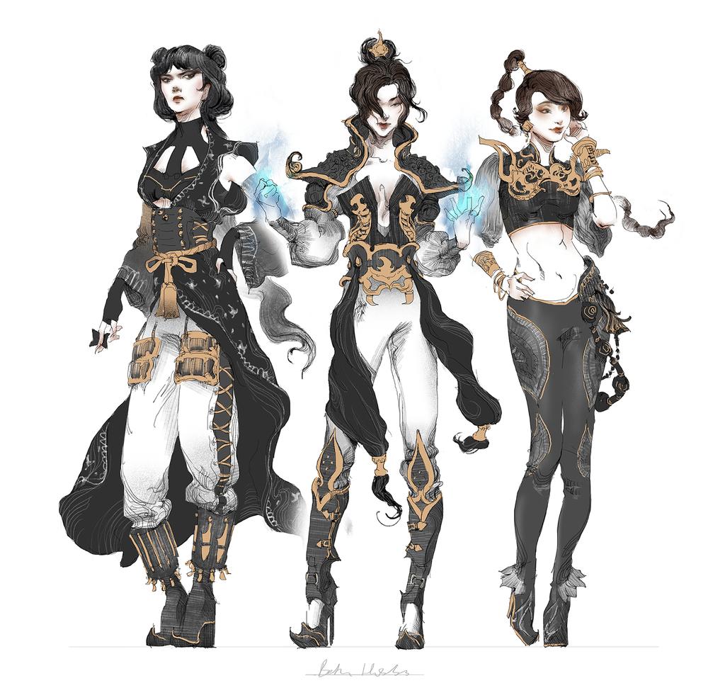 Avatar Last Airbender Character Design : Azula mai ty lee by quargon viantart on