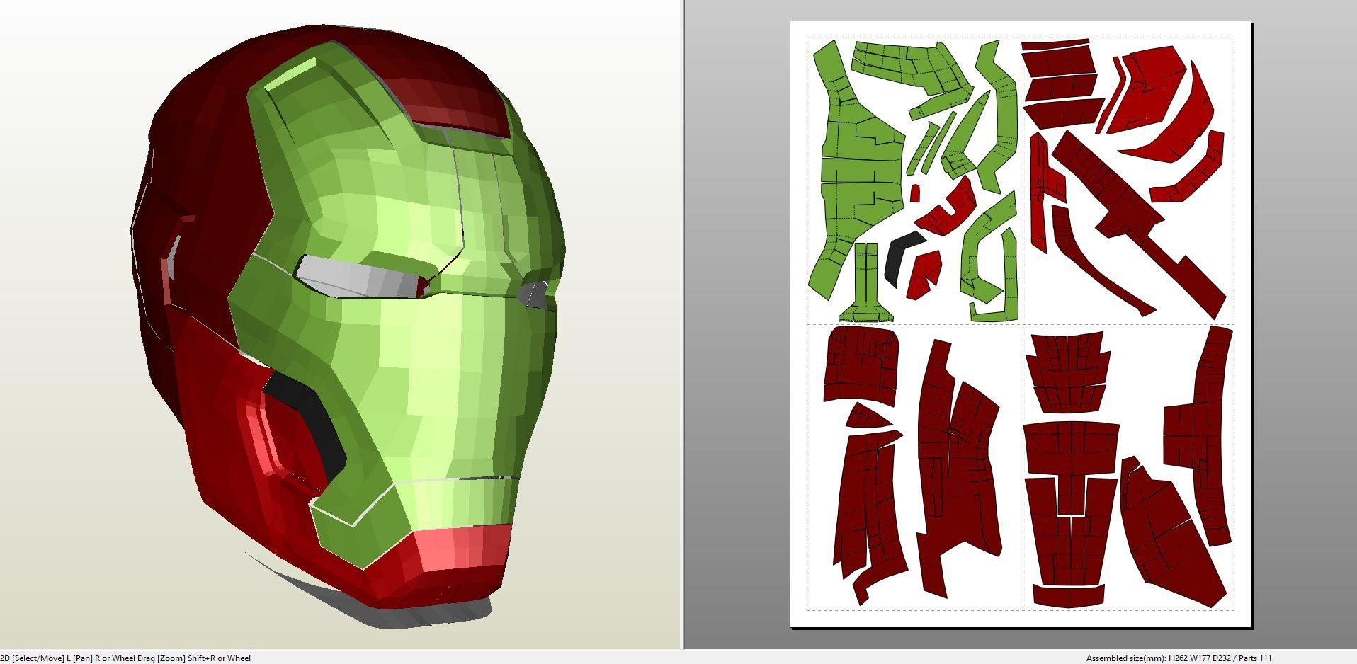 Foamcraft Pdo File Template For Iron Man Mark 8 Full Armor Foam
