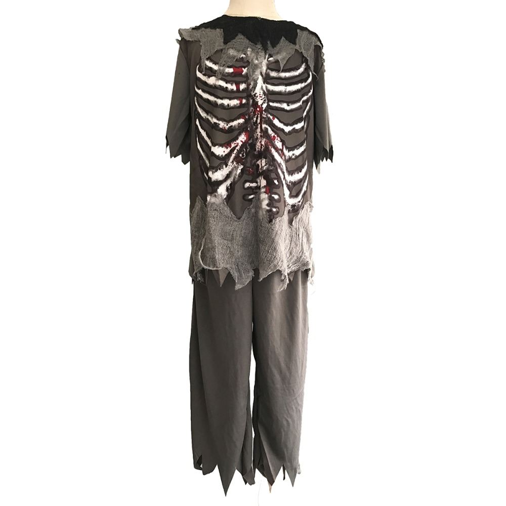 6596 buy here boys zombie costume kids ghost halloween costumes child scary bloody skeleton