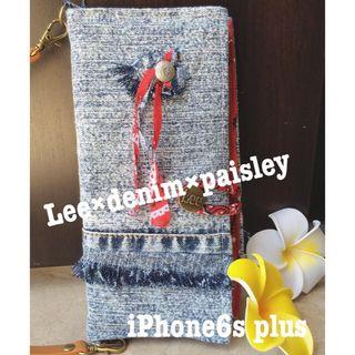 iPhone6Splus リメイクカバー ハンドメイドのスマホケース/アクセサリー(スマホケース)の商品写真