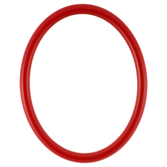 Oval Wood Picture Frame In Series 250 With Holiday Red Finish Int 8x10 65 Holiday Red Oval Picture Frames Picture On Wood