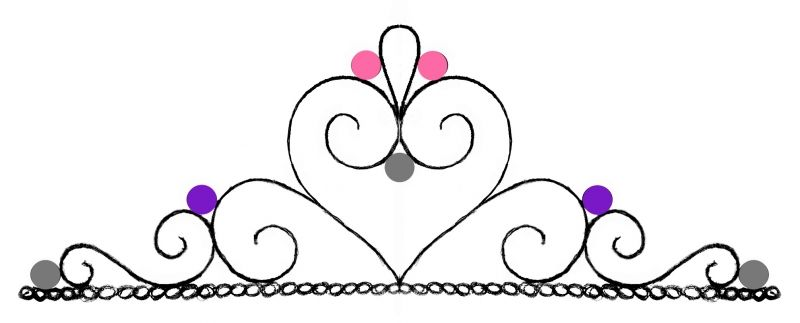 Pin Princess Crown Template To Print Tiara Party Hat Cake On