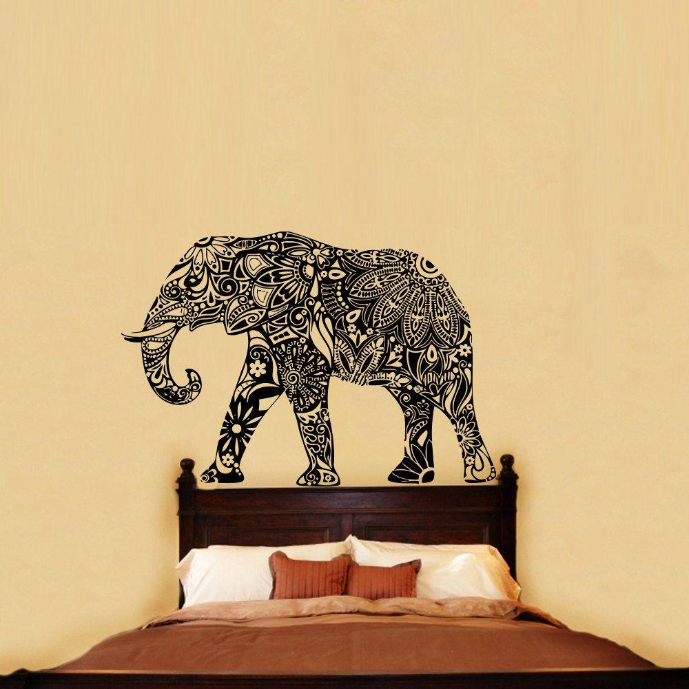 Wall Decal Elephant Vinyl Sticker Decals Home Decor by BestDecals ...