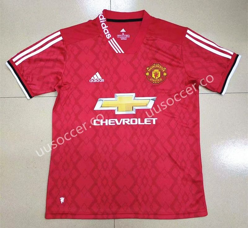 ff61adfcc23 GanNian Version 2019-2020 Manchester United Home Red Thailand Soccer jersey  AAA-809