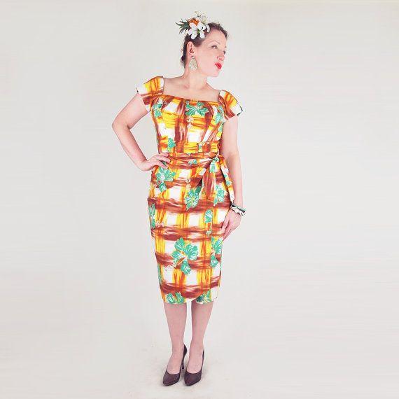 Hawaii kleid 50er