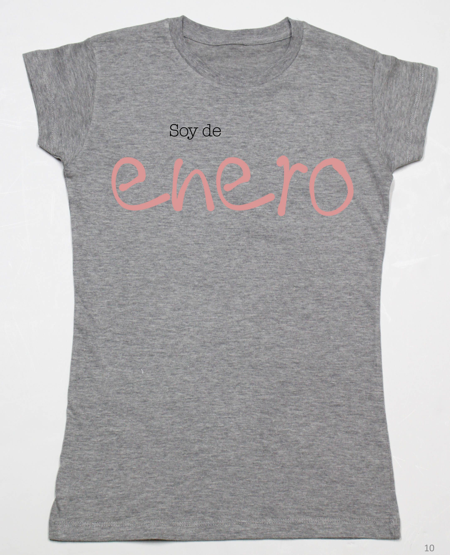 Camiseta Gris Mujer Cuello Redondo Mes Del Ano En Varios Colores De Decharcoencharco En Elsy Camisetas Para La Familia A T Shirts For Women Mens Tops T Shirt
