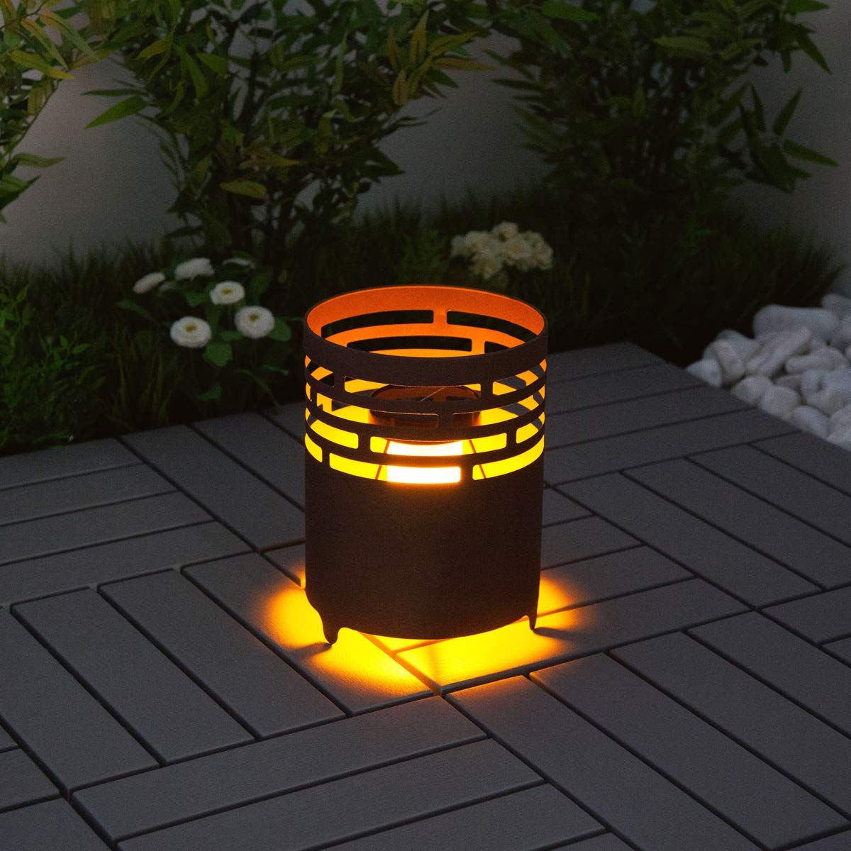Led Solar Feuerstelle Pavillon Beleuchtung Gartenbeleuchtung Feuerstelle