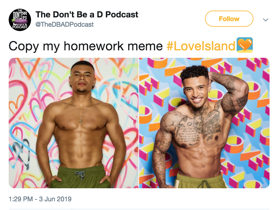 Season 5 Love Island Memes Love Island Great Memes Tv Show Quotes
