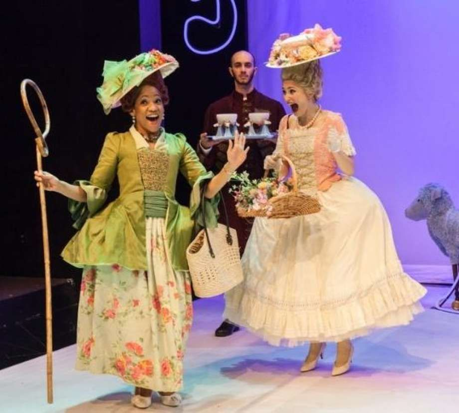 Robin LeMon, Craig Putman, and Emily Neves in Marie Antoinette - Photo by Amitava Sarkar