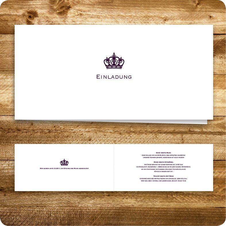 Großartig Einladungskarte, Einladung Für Hochzeit, Individuell Designed By Die  Kartenfrau