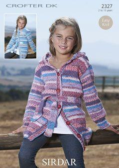 290317ad33e0 2327 - sirdar crofter dk girls cardigan - knitting pattern - to fit ...