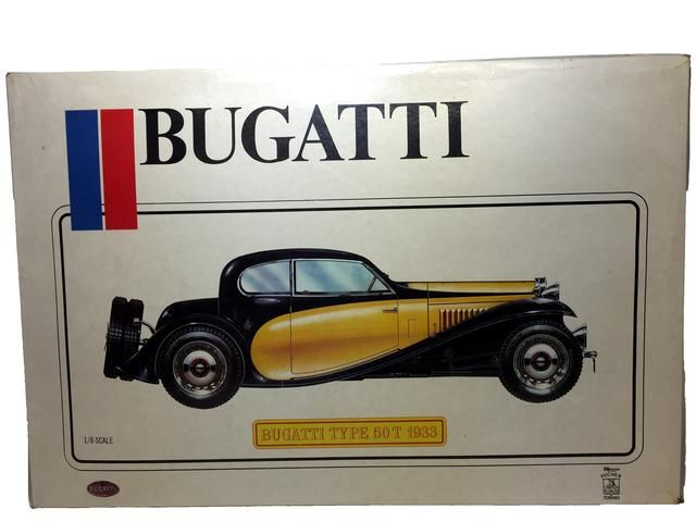 a pocher italian #k76 1933 bugatti type 50t 1/8 scale model car