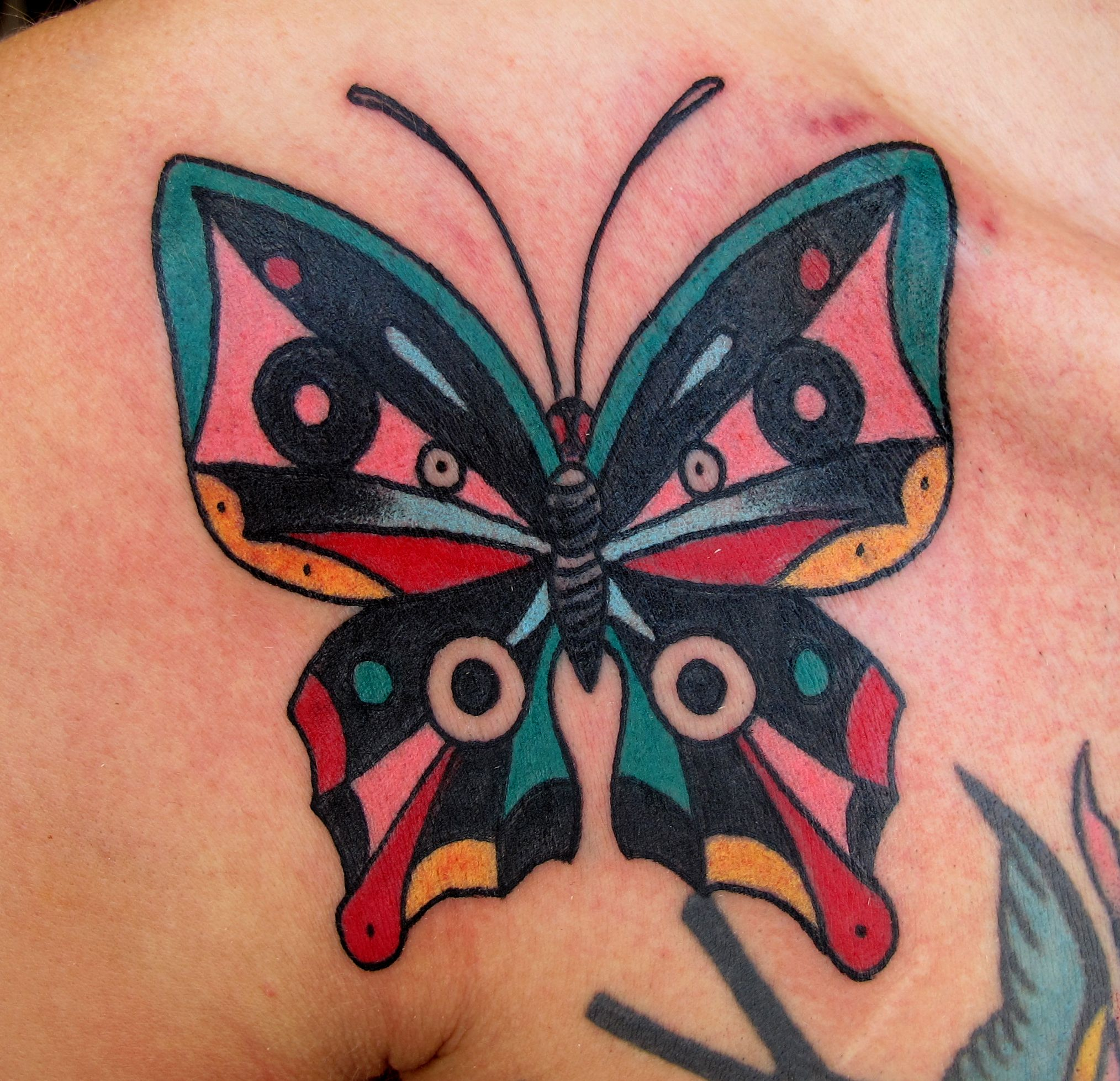 Solid Black Butterfly Tattoo This butterfly is adding on ... - photo#6
