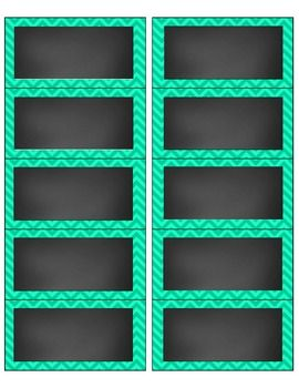 free chevron and chalkboard avery 5163 labels editable classroom