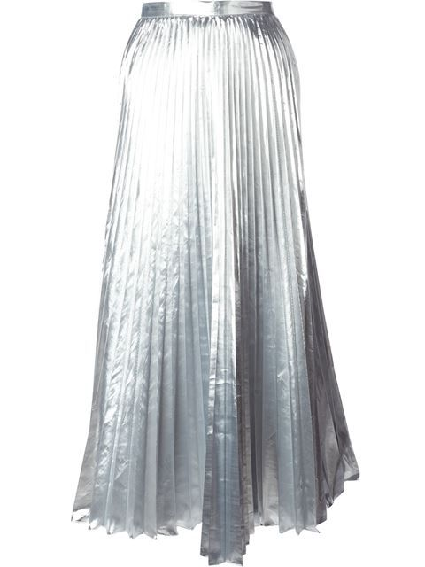 64bea39635 Shop DKNY pleated maxi skirt in Tiziana Fausti from the world's best  independent boutiques at farfetch.com. Over 1000 designers from 300  boutiques in one ...