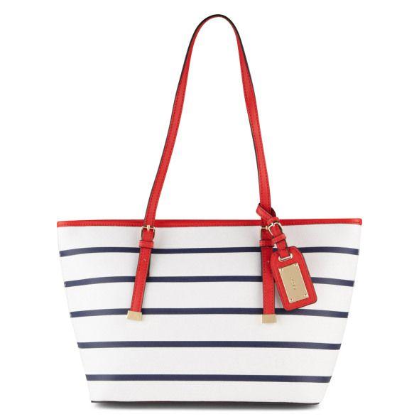 53a887591 sac marinière blanc rayé noir à anse rouge, Aldo | sacs | Sac, Mode ...