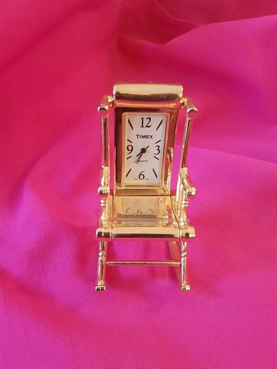 Timex Clock Minsture Rocking Chair