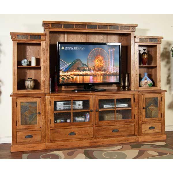American Furniture Warehouse Virtual 3439ro Sedona Wall Unit By Sunny Designs