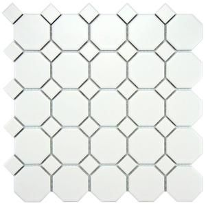 Octagon Floor Tile vintage hexagonal floor tilejpg Merola Tile Metro Octagon Matte White With Dot 11 12 In X 11 12 In X 5 Mm Porcelain Mosaic Tile 92 Sq Ft Case