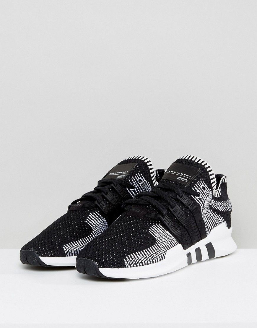 best website 7537c f81c7 adidas Originals EQT Support ADV Primeknit Sneakers In Black BY9390 -