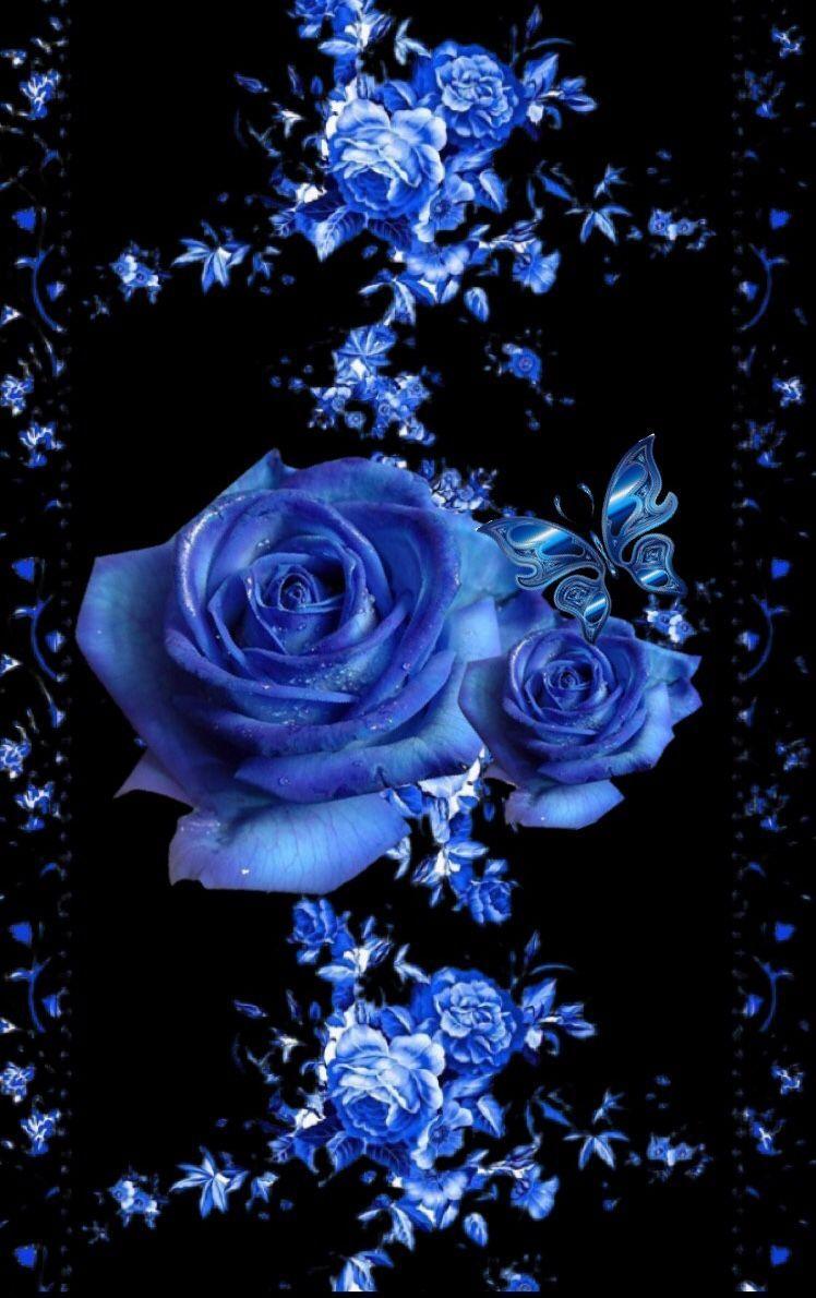 Wallpaper By Artist Unknown Blueflowerwallpaper Winterfashion Blue Roses Wallpaper Flower Phone Wallpaper Flower Art 3d wallpaper blue flower