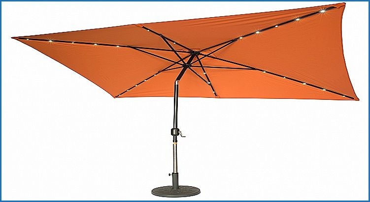 Rectangular Patio Umbrella With Solar Lights Simple Elegant Rectangular Solar Patio Umbrella  Patio Umbrellas Decorating Inspiration