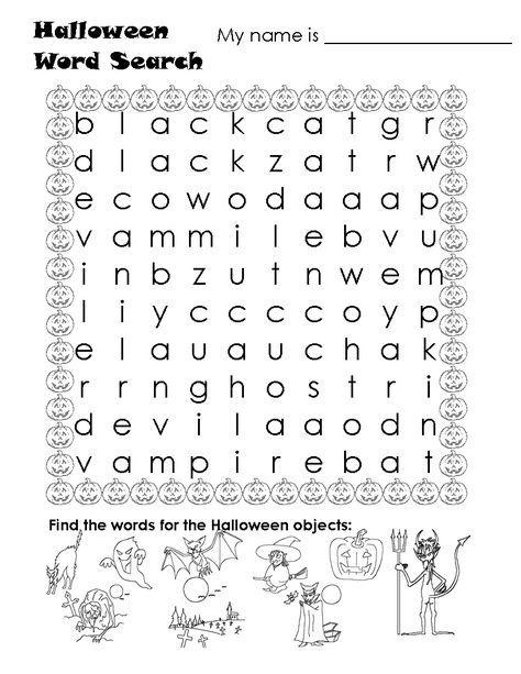 frankenstein worksheets for kids | FREE Printable Halloween Word ...