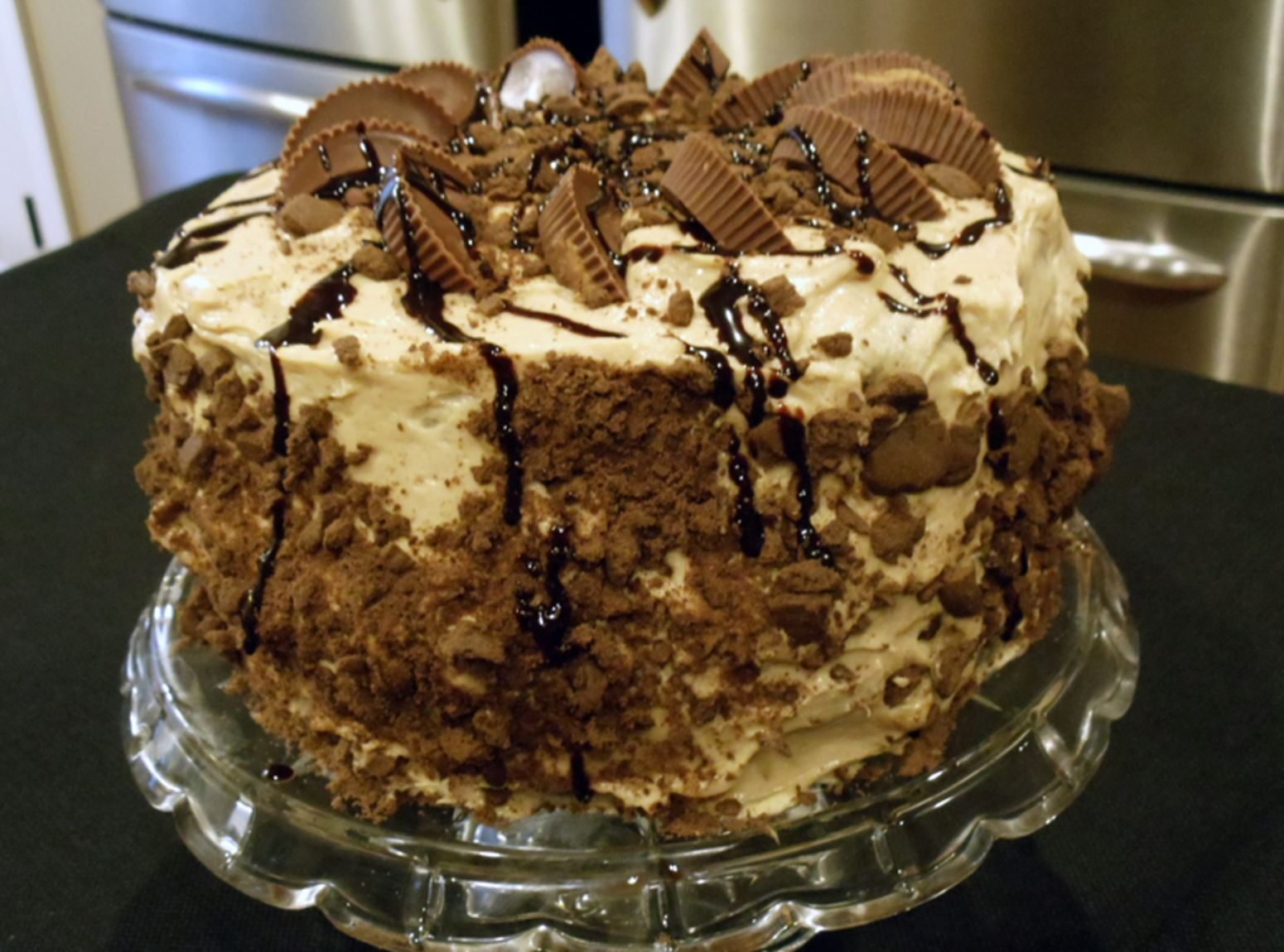 Missy's Peanut Butter Passion Cake- Ok this is very sinful, but it looks delicious!!! :)