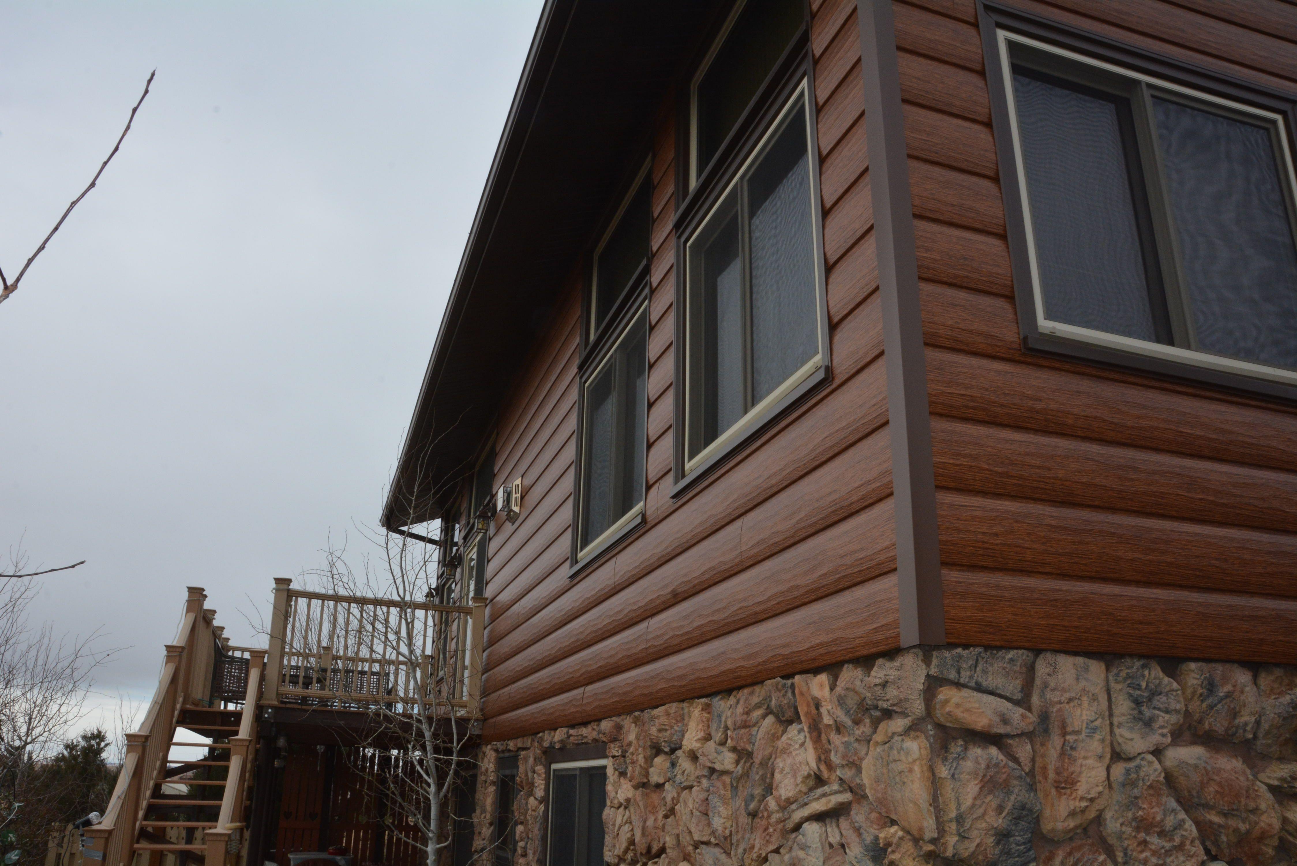Red Cedar Steel Log Siding Log Siding Exterior Siding Steel Siding