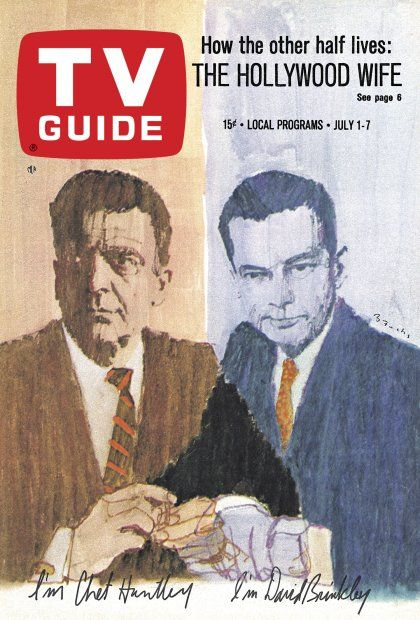 TV Guide: July 1, 1967 - Chet Huntley and David Brinkley