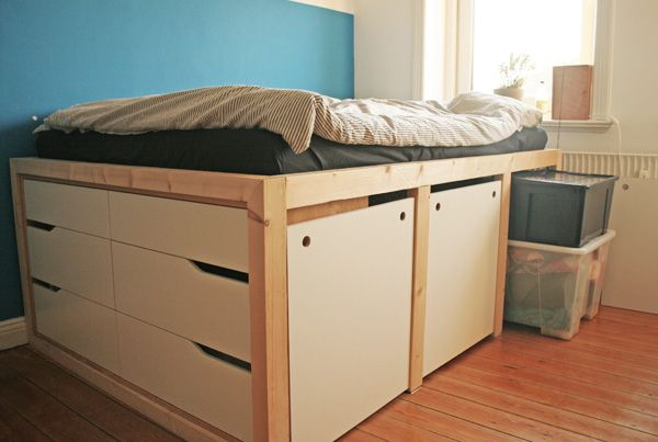 ikea hack mandal kommoden bett apartment dorm room pinterest bett kommoden bett und hochbett. Black Bedroom Furniture Sets. Home Design Ideas